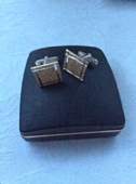 Sophos Brand Cufflinks - 1960s to 1970s Cufflinks - 9ct Gold on Sterling Silver Cufflinks  in Orignal Box